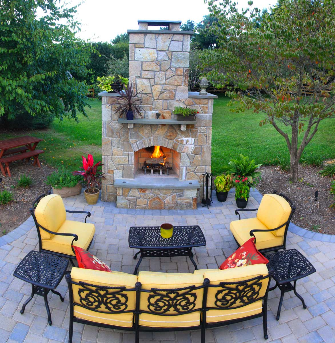 the benefits of a fire pit rhine landscaping