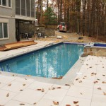 Pool Landscape in Fall