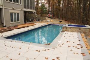 Pool Landscape in Fall