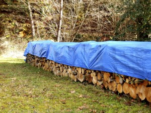 Tarps used in landscaping