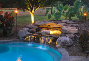 rhine landscaping water feature pool waterfall