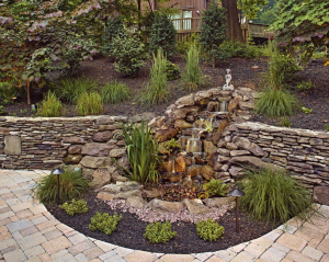 rhine landscaping pondless water feature