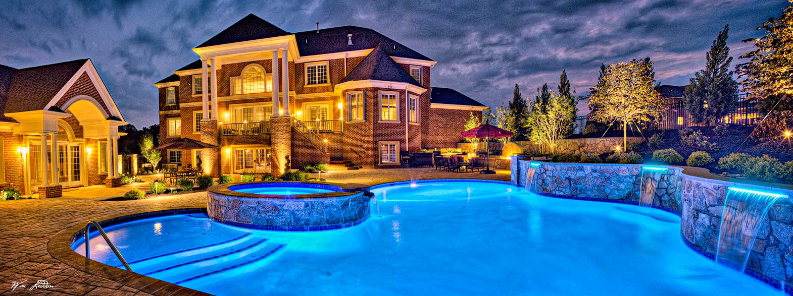 The best swimming pool builder in maryland rhine landscaping for Top pool builders