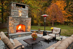Do you love this outdoor fire feature we built? Call us today so we can start designing yours next!