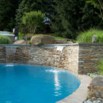 custom outdoor kitchen grill pool construction howard county