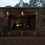 indoor fireplace, covered porch deck, contractor landscaper west friendship md