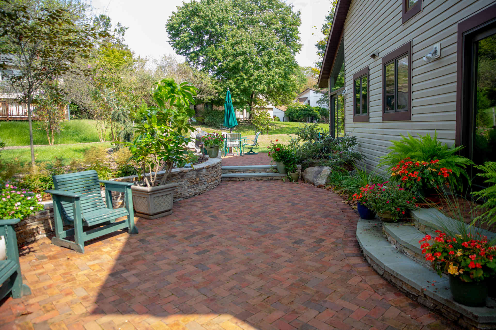 Retaining Wall, Fire Pit, Steps, Paver Patio, Drainage ...