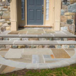 natural stone steps, walking path, retaining wall, stoop, front step design, landscaping baltimore county, pikesville, maryland, rhine