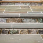 paver steps, retaining wall, stoop, front step design, landscaping baltimore county, pikesville, maryland, rhine