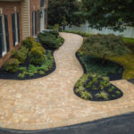 landscaping design, stone walkway patio, rhinelandscaping, baltimore county, md