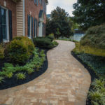 landscaping design, stone walkway patio, rhinelandscaping, baltimore, md