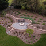 custom landscaping contractor company in glen elg, md, patio, hardscape, fire pit, walls