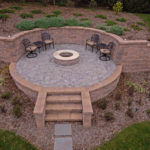 custom landscaping contractor company in sykesville, patio, hardscape, fire pit, walls