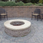 howard county landscaping company, rhine landscaping, custom patio, hardscape, fire pit, walls